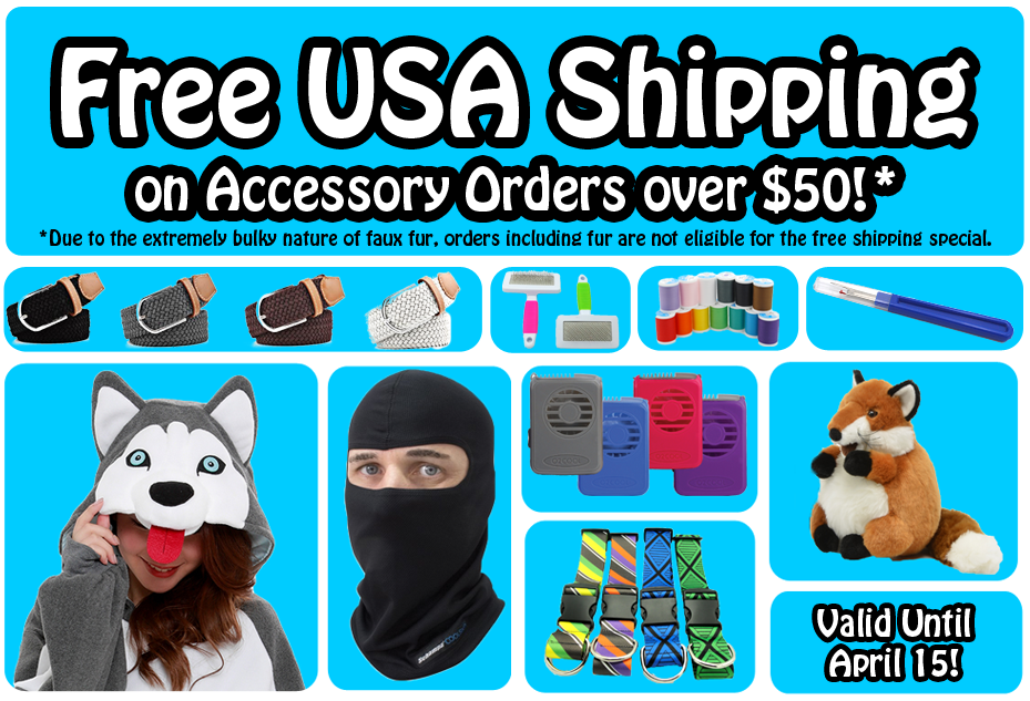 Free  US Shipping on Non-Fur Orders of $50+ Sale!